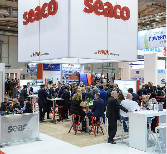 Seaco stand and visitors networking